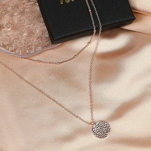 GEE KIUL Layered Choker Necklaces, Rose Gold